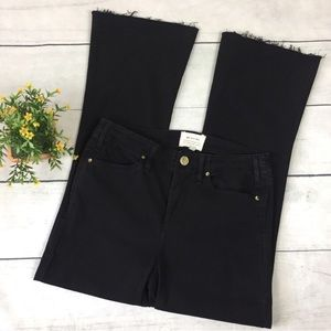 McGuire Denim Black High Rise Flare Ankle Jeans